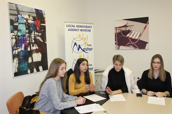 Third meeting of the local youth advisory group from Mostar