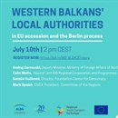 Webinar: Western Balkans' local authorities in EU accession and the Berlin process