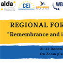 "Coming soon: Regional Forum ""Remembrance and intercultural dialogue"""